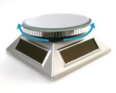 【ディスプレイ用品】電源不要!ソーラーミラーターンテーブル*小物・雑貨の展示に!(ST002)