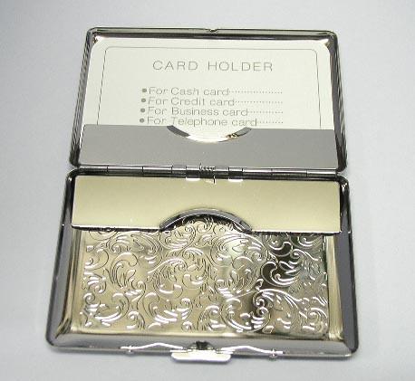 送料140円~ダブル収納カード名刺ケース 両面アラベスク