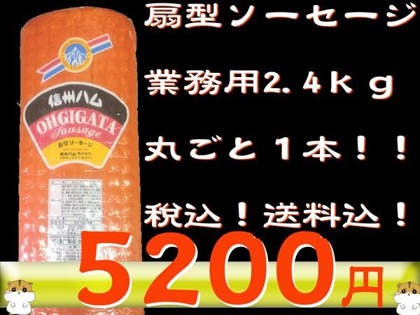 【京都なつかしの味】扇型ソーセージ 2.4kg/お得/業務用/ソーセージ/