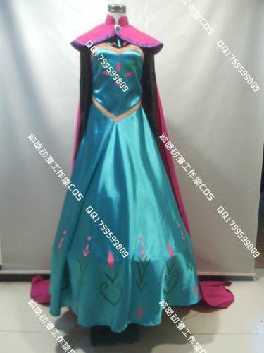 ディズニー アナと雪の女王 Frozen エルサ 戴冠式 ドレス +マント コスプレ クリスマス ハロウィン イベント オーダーサイズ可能|au  Wowma!(ワウマ)