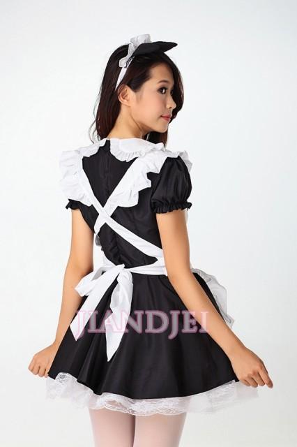 【即納】胸元ハートオーブンメイドコスプレ 猫耳SEXYメイド服セールハロウィンクリスマス 5423
