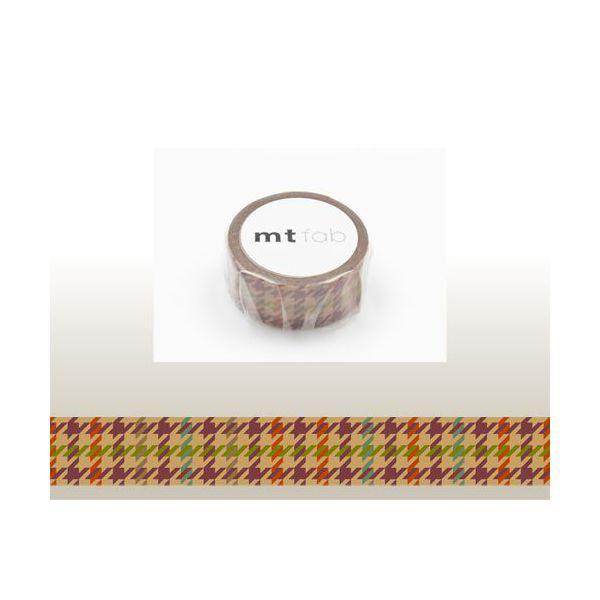 【メール便OK】mt fab/マスキングテープ(1巻)/ワックスペーパー/千鳥チェック/15mm/MTWX1P02/カモ井/NEW