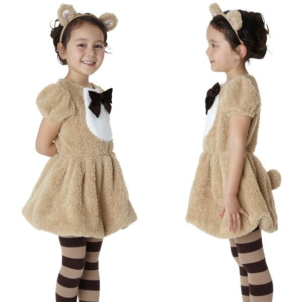 ハロウィン コスプレ 衣装 子供 キッズ ディズニー ダッフィー風 仮装 コスチューム ワンダーベアーガールキッズ  100の通販はWowma!(ワウマ) , モバイルデパート|