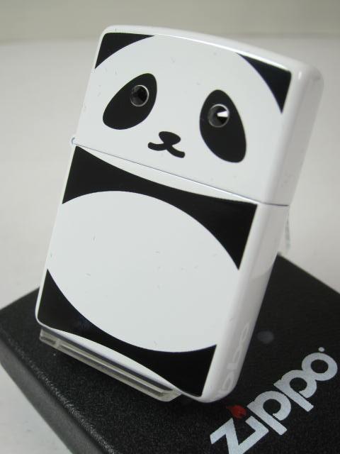 ジッポーZippo ぱんだ パンダ 両面(かわいい後姿)#200黒目クリスタル石panda