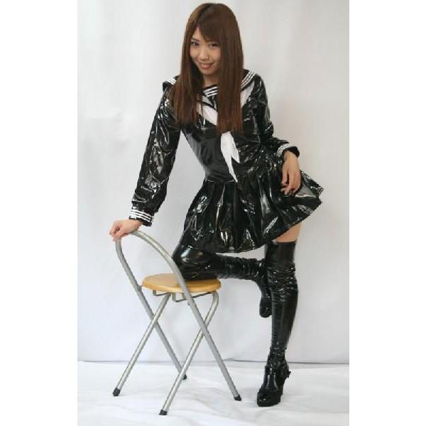 セーラー服 コスプレ衣装 コスチューム 制服 女王様エナメル長袖セーラー マイクロミニ cos4324a