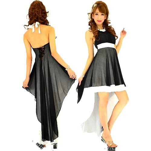 激安 セール キャバ ドレス パーティー 結婚式 柔らかラメネット重ねテールカットシフォン ロングドレス sld-lei-171