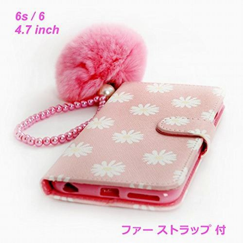 71afe4c6fc iphone 6s ケース 手帳型 4.7 inch ( マーガレット の 花柄 がとても 可憐 )