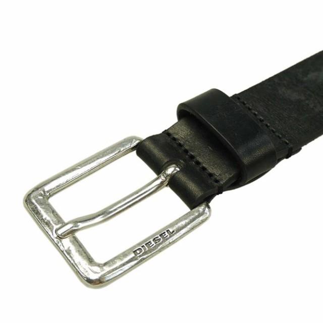 【セール 40%OFF!】DIESEL ディーゼル メンズレザーベルト B-BOLD / X03733 P0754 ブラック /定番人気商品
