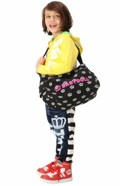 NEW 見た目以上の収納力が自慢♪王冠総柄BDショルダーバッグ-鞄 キッズ レディース ベビードール 子供服-8847