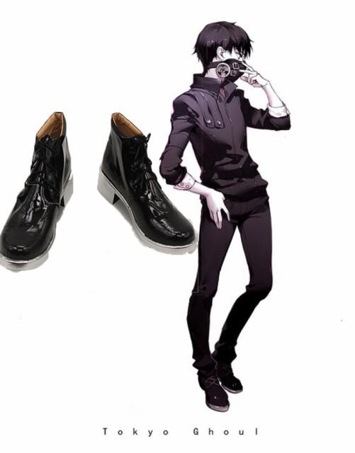 東京喰種 金木 研 戦闘服 風 衣装+ウイッグ+靴フルセット