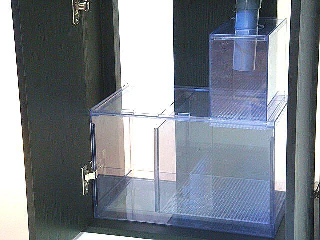 【 濾過槽 】 オーバーフロー水槽用 ★ 二層式濾過槽 ★ ウールボックス付 ★ W400 ■