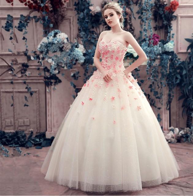 超可愛い☆カラードレス ウェディングドレス パーティドレス 舞台ドレス Aライン ビスチェ/結婚式/ブライダル/演奏会 発表会 撮影  H023の通販はWowma!