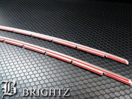 BRIGHTZ ヴェルファイア 20 25 後期  超鏡面ステンレスメッキフロントバンパーモール Fタイプ FBUM-MOL-009