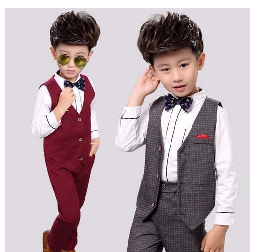b2546687bfcf6 3点セット フォーマル 男の子 長袖 秋冬 韓国子供服 チェック柄 キッズ スーツ シャツ