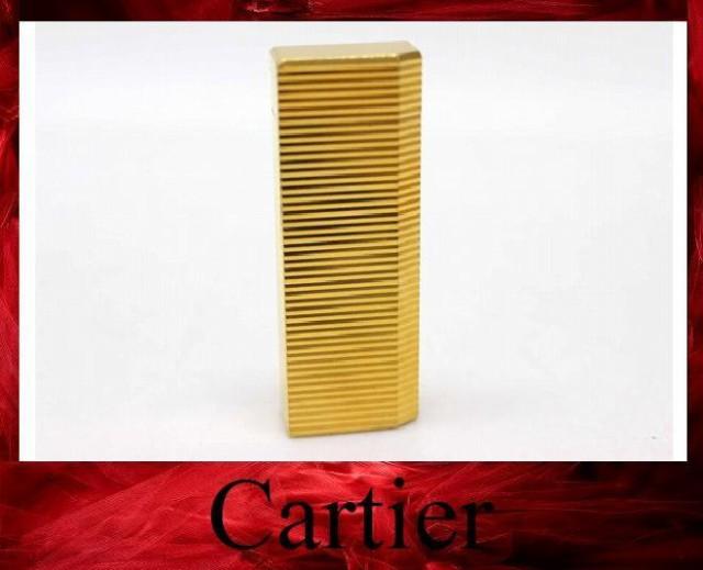 あす着 CARTIER カルティエ 5角 ガスライター 喫煙具 メンズ レディース ライター メタル ゴールド