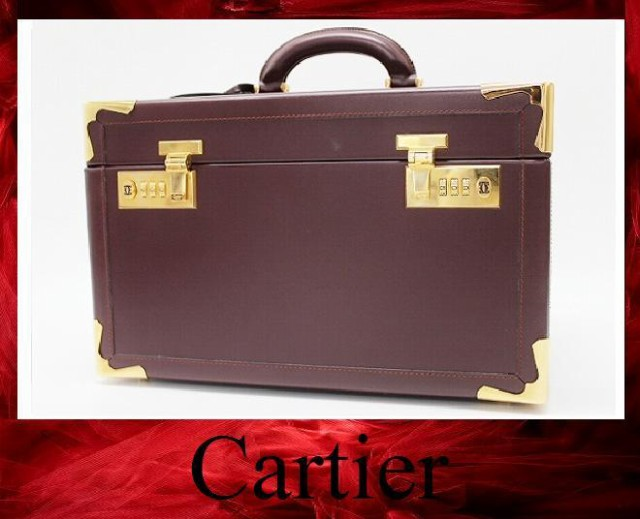 hot sale online 083fe 1ed32 あす着 CARTIER カルティエ メイクボックス バニティバッグ マストライン ハンドバッグ レザー ボルドー ユニセックス|au  Wowma!(ワウマ)
