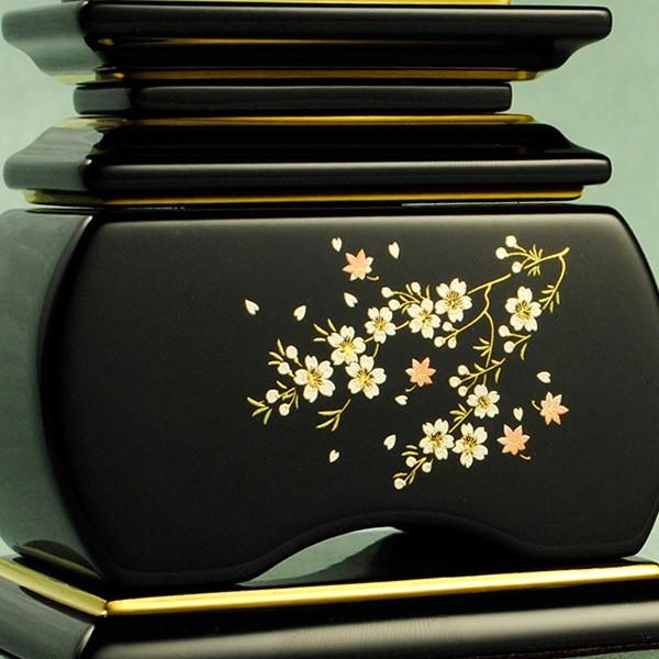 モダン蒔絵位牌・塗りタイプ・風桜4.0寸・送料無料
