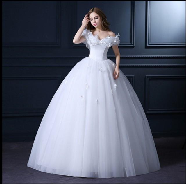 超可愛い! ウェディングドレス オフショルダー Aライン プリンセスライン 結婚式 披露宴 パーティー H070の通販はWowma!(ワウマ) ,  YY shop|商品ロットナンバー: