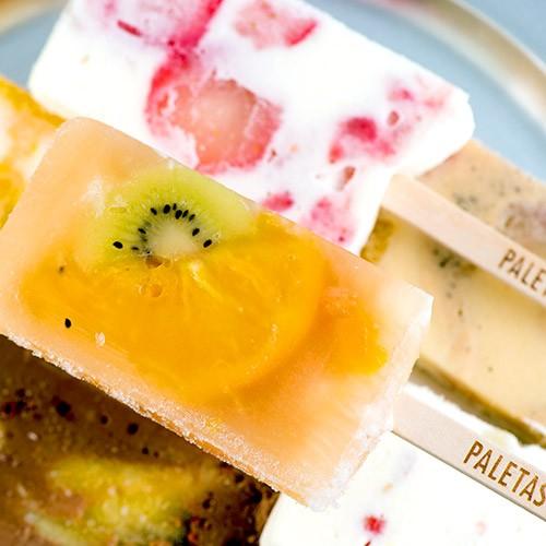 『PALETAS 6本セット』(ミックス、クリームチーズミックス、チョコレートバナナ、イチゴミルク、マンゴーパイン、アールグレイピーチ)