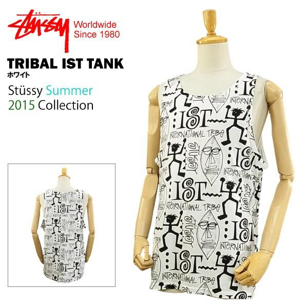 ステューシー トライバル IST タンク ホワイト (STUSSY TRIBAL IST TANK 1933612 タンクトップ)