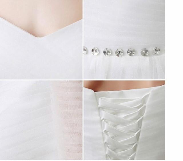 パーティードレス ホワイト 白 結婚式 ワンピース 大きいサイズ ブライダルドレス オフショルダー レース ロングドレス 編み上げ