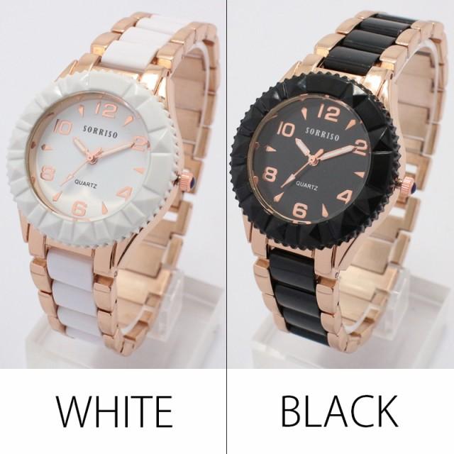 ★NEW!モノトーンがかっこいい!【メール便送料無料¥2380】 GOLD MIX BELT DESIGN WATCH  の腕時計
