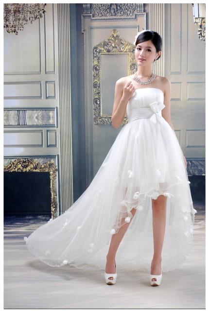 高品質☆ミニ丈ウェディングドレス♪マタニティ 体型カバー ウェディングドレス 結婚式♪オーダーサイズも対応可能 H018の通販はWowma!(ワウマ)  - YY shop|商品 ...