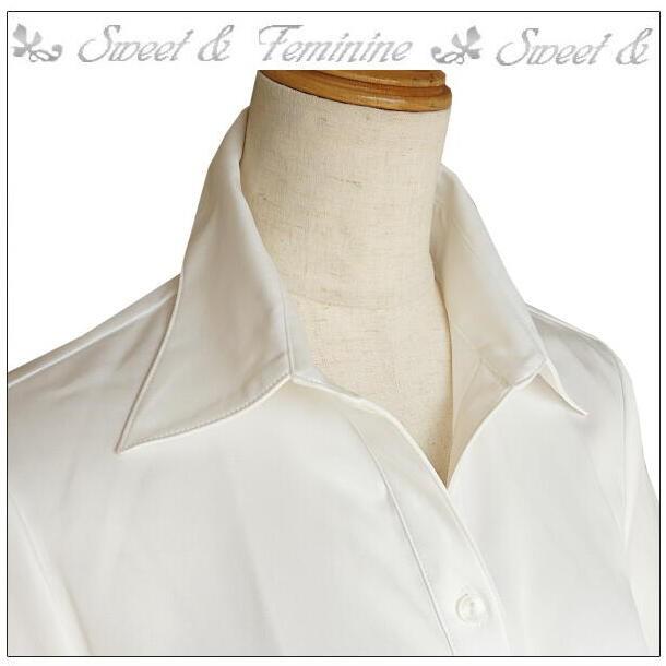 半袖ブラウス ストレッチ ホワイト 白 9号 11号 13号 事務服 制服 オフィス 通勤 夏 シャツ 夏 ブラウス 半袖 シャツ