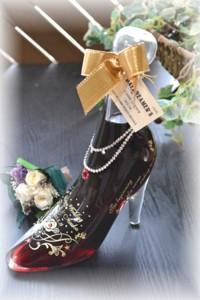 限定【シンデレラのガラスの靴】リキュールボトル・レッド350ml/誕生日・サプライズプレゼント・結婚祝い・プロポーズギフト
