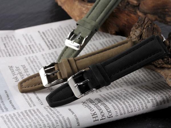 eda35a3d2a 本革腕時計バンド カーフヌバックB 腕時計ベルト 腕時計用 替えベルト 牛革バンド カーフ