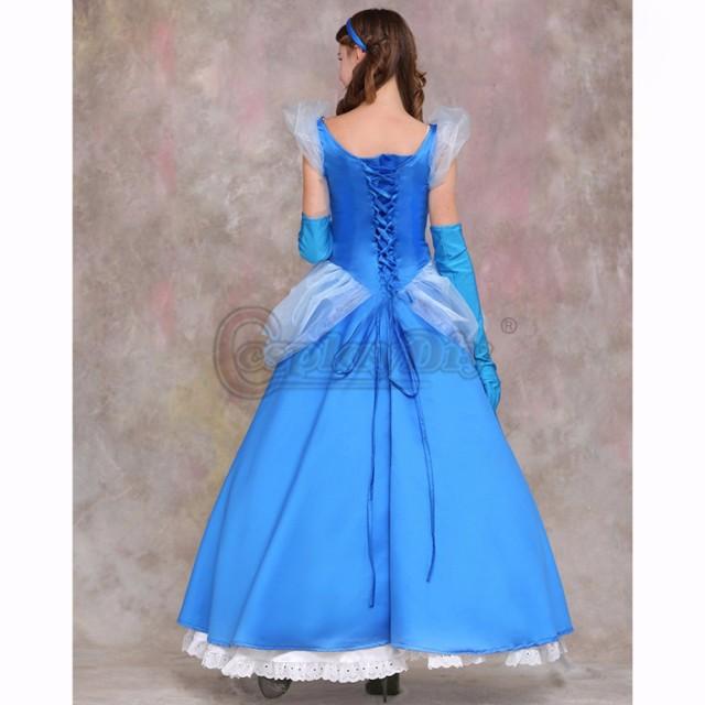 高品質 高級コスプレ衣装 ディズニー 風 シンデレラ プリンセス タイプ オーダーメイド ドレス Cinderella Halloween Party Dress