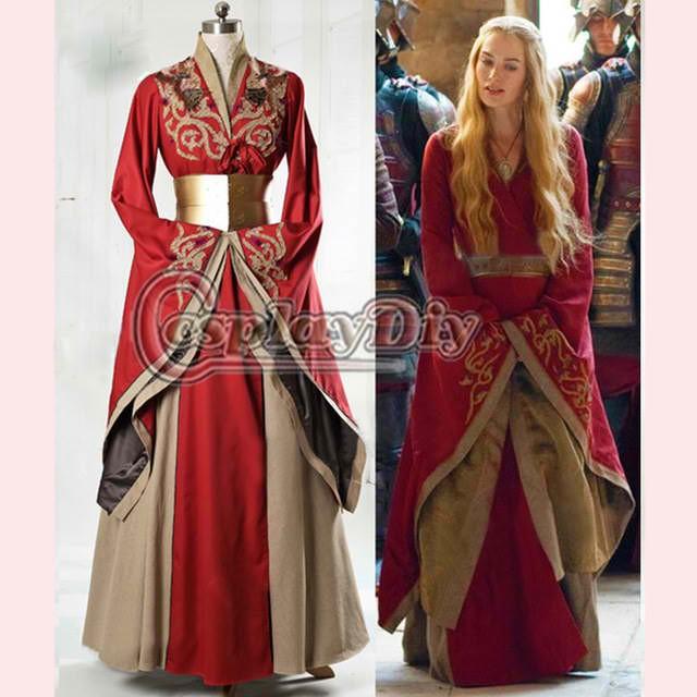 高品質 高級コスプレ衣装 ゲーム・オブ・スローンズ 風 オーダーメイド ドレス Game of Thrones Queen Cersei  Lannister Red Exclusiveの通販はWowma!