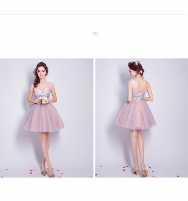 Vネックドレス レースドレス大きいサイズ パーティドレス 結婚式 演奏会 イブニングドレス 二次会 お呼ばれ 披露宴
