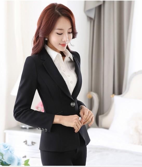 スーツ オフィス 就活ビジネス リクルートスーツ 2点セット 入園長袖ジャケット+長パンツ 美容師 大きいサイズ OL通勤