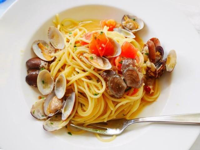 浅蜊パスタ ペペロンチーノ ボンゴレも美味しい