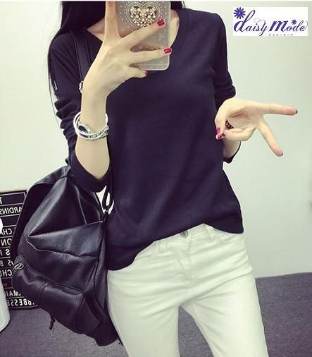 6カラーvネック長袖Tシャツ 長袖カットソー シンプルきれいめ きれいめカットソー 普段着 カットソー無地 M L XL サイズ