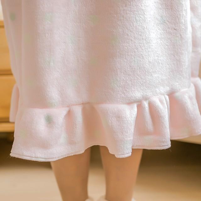 上質な レディースルームウェア/ ロングブランケット/モコモコふわふわの着る毛布/ 部屋着 寒さ対策ルームウェア/着る毛布JS03