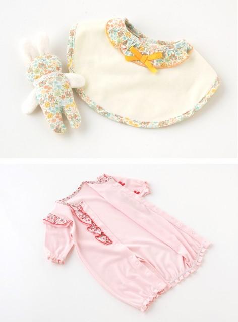 a22bd5c4cfd81 ベビー服 赤ちゃん 服 ベビー ツーウェイオール 女の子 出産祝い 出産準備  スウィートガール  小花