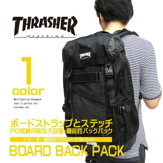 a7c4b60b051a THRASHER バッグ スラッシャー ボードバックパック フラップリュック リュックサック THRASHER-THREX502