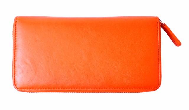 長財布 羊革 シープスキン ラウンドファスナー レディース ファッション プレゼントに最適♪ サイフ e031