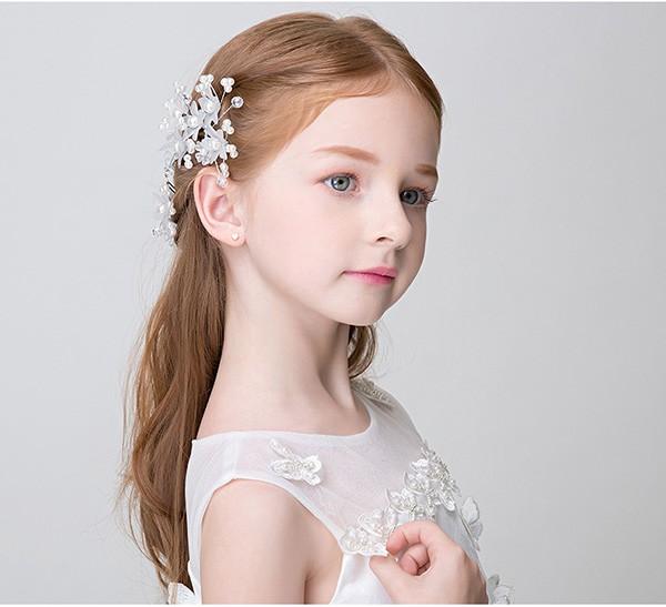 送料無料 キッズアクセサリー 子供髪飾り ティアラ ヘアアクセサリー チュチュ カチューシャ ティアラ クロス 一粒ダイヤ フォーマル