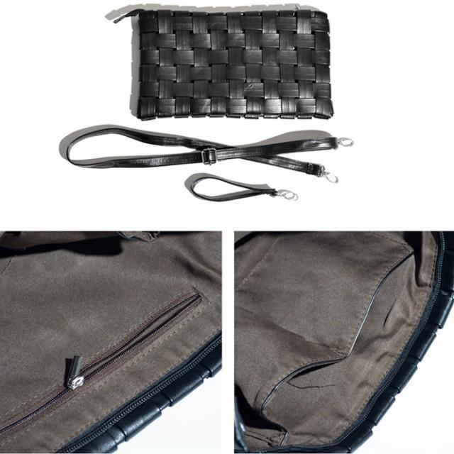 メンズ クラッチバッグ STYLE-ON スクエア イントレチャート クラッチバッグ 全12色