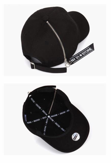 即納[] ファスナーキャップ 男女兼用 キャップ 帽子 野球帽 大人気 小顔効果 レディースキャップ ha0002