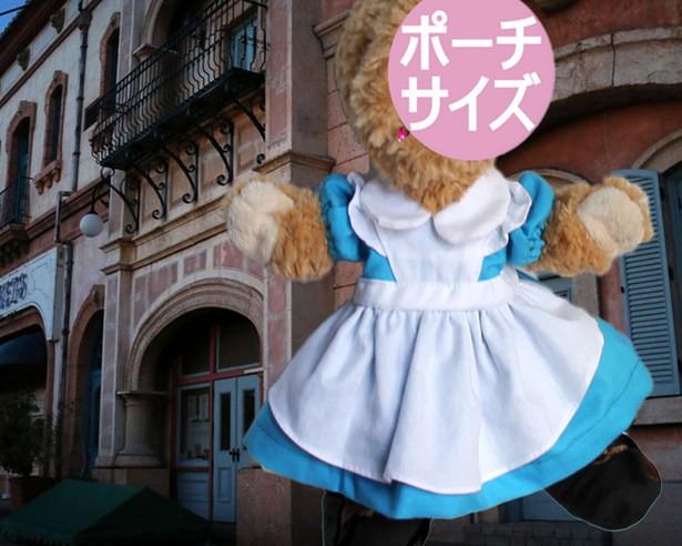 型紙 ぬいぐるみポーチサイズ(身長26cm)のワンピースドレス・背広 コスチューム の パターンセット作り方説明付(Pa7+se)
