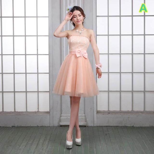 ショートドレス Aライン フォーマル ショート丈ワンピ パーティードレス 発表会ミニドレス キャバ嬢ドレス 9柄