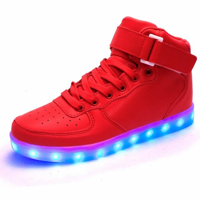LEDスニーカーシューズ 光る靴 光るスニーカー 7カラーチェンジスポーツシューズ 充電式LEDスニーカー メンズ レディース くつ男女