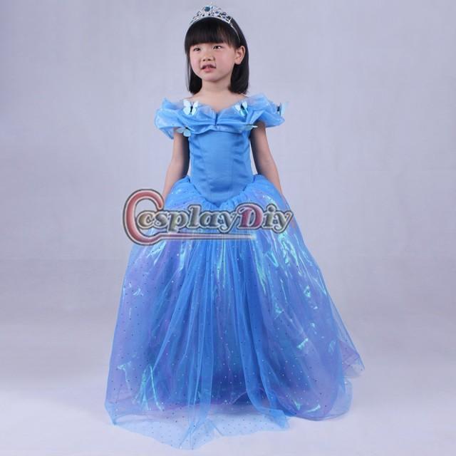 高品質 高級コスプレ衣装 映画 ディズニー シンデレラ 風 ドレス オーダーメイド Cinderella dresses Frozen  princess 子供用 キッズ|au Wowma!(ワウマ)
