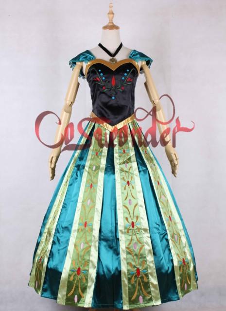 高品質 高級コスプレ衣装 ディズニー風 アナと雪の女王 戴冠式 アナ/エルサ ドレス Frozen Anna Dress Frozen Party  Frozen Theme|au Wowma!(ワウマ)