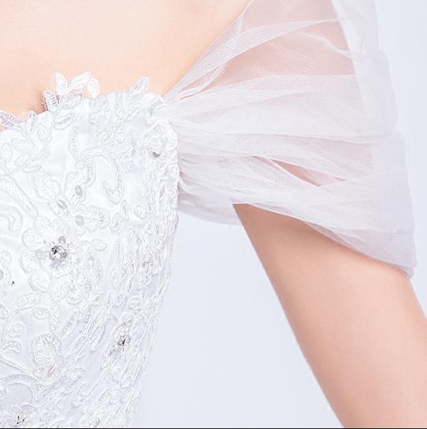 ウエディングドレス 二次会 結婚式 披露宴 司会者 舞台衣装 花嫁 ロング丈