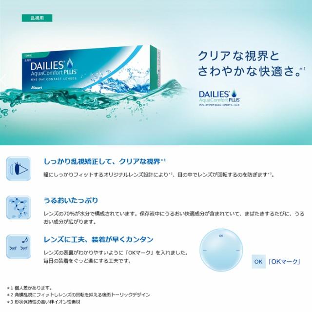 ◆◆【送料無料】 デイリーズアクアコンフォートプラストーリック 1箱 【クリアコンタクト】